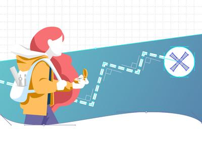 Making Design Decisions That Scale- blog image flat gradient vector communication marketing blog explore graphic design brand illustration