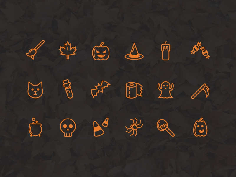 Freebie - Halloween Icon Set vector candy spider ghost pumpkins set icon halloween freebie