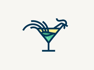 Cock Tail - Logo Icon icon logo vector drink rooster cocktail
