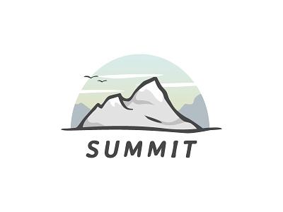 Summit vector illustration mountain summit