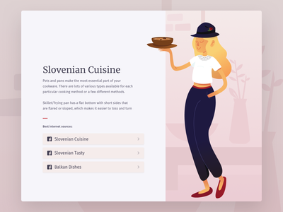 Slovenian Cuisine ux ui tasty balkans slovenia people website recipes food illustration cuisine