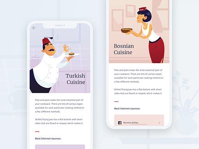 Turkish & Bosnian Cuisine ux ui turkish tasty responsive product mobile illustration food cuisine bosnian balkans