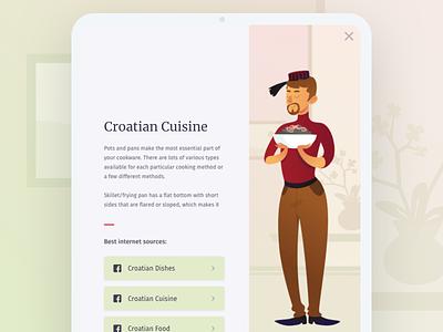 Croatian Cuisine - Tablet responsive tablet ux ui balkans croatian food illustration product cuisine