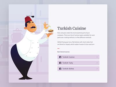 Turkish Cusine ux ui tasty balkans turkey people website recipes food illustration cuisine
