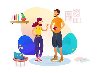 Rylix HQ office hq rylix web ux design ui brand illustration