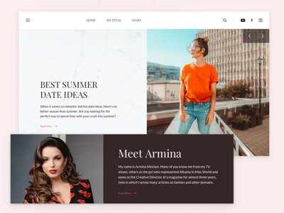 Fashion Blog Homepage wip homepage fashion typography ui ux blog