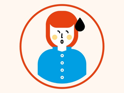 Woman minimal illustration vector drop woman