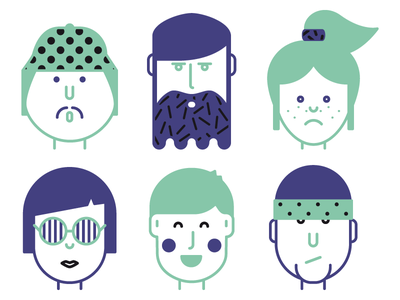 Workstyle vector minimal pattern illustration people