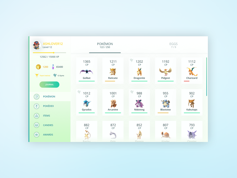 pokemon go desktop application by austin robinson dribbble