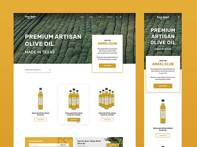 Texas Angel Oil Website austin robinson robinson austin ui website web design