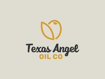 Texas Angel Oil Branding charcoal gold logo design austin robinson texas angel brand design logo