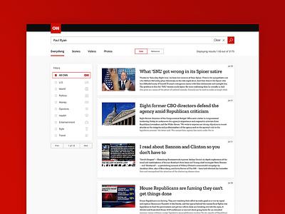 ThirtyUI Challenge #3 - CNN Search Results ui thirtyui thirty product results search red cnn bright