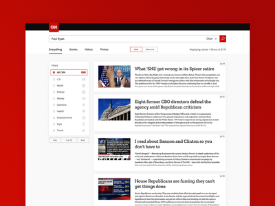 ThirtyUI Challenge #3 - CNN Search Results ui thirtyui thirty product results search red cnn bright
