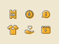 Watercolor Icons