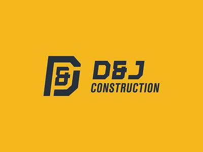 New Branding for D&J Construction ampersand j d geometric construction logo black yellow robinson austin logo dj construction