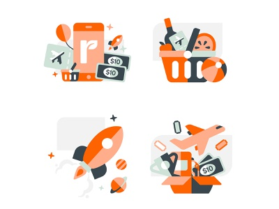 Everyday Rewards shapes vector icon geometric design illustration