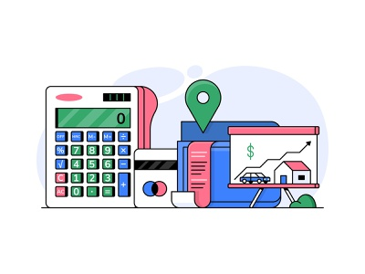 Stilt finance bold linework vector icon illustration