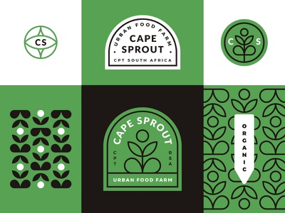 Cape Sprout sprout cape pattern icon branding design brand