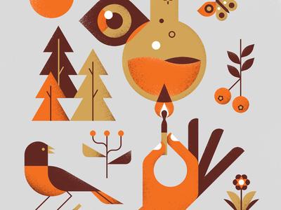 One Small Spark texture shapes minimal geometric design vector illustration