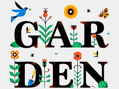 Garden nature garden texture type iconography icon vector illustration