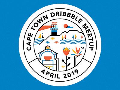 Dribbble Meetup 11 - Cape Town town cape meetup dribbble badge design vector illustration
