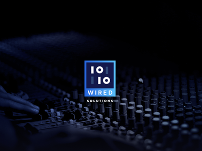 1010Wired Brand Identity identity inspiration neon clean branding icon black dark minimal logo design