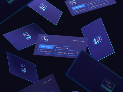 1010Wired Business Cards brand identity inspiration logo business card design