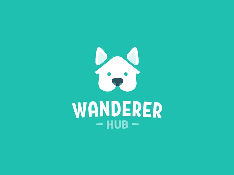 Wanderer Hub Logo logo minimal inspiration logo design symbol inspiration cute branding and identity branding design branding