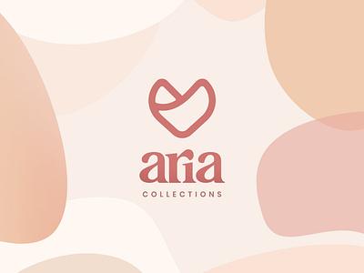 Aria Collections logo brand identity branding minimal inspiration beauty design logo elegant fashion girly chic aria