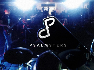 Psalmster Logo Treatment identity typography branding black dark illustration inspiration minimal logo design