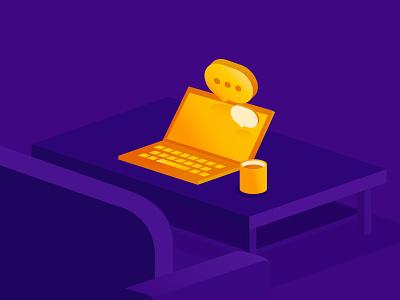 Golden Illustrations 1 violet yellow illustration gold study
