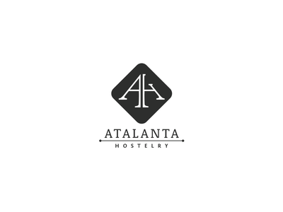 Atalanta Holstelry identity branding design logo hostelry hotel monogram ah
