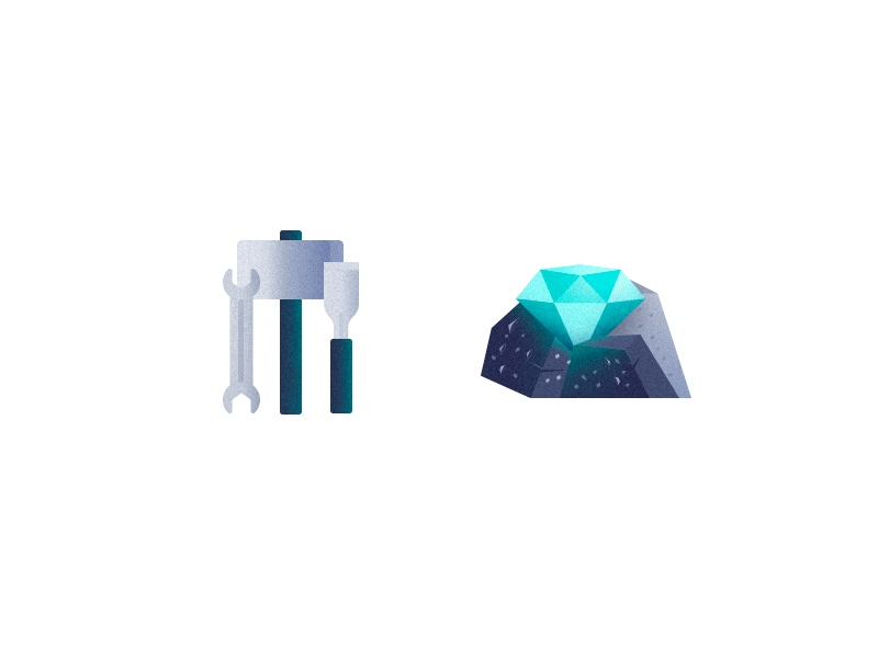 The Diamond in the Rough - Grunge Icons I by Ja San Miguel
