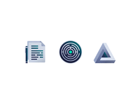 Puzzles and Documents - Grunge Icons II
