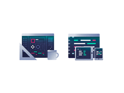 Design x Development - Grunge Icons III computer icon illustration tools development design
