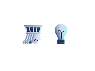 Methodology & Thinking - Grunge Icons IV thinking methodology ideas innovation king illustration