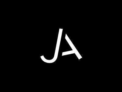 Personal Logo branding and identity branding wordplay monogram ja black inspiration dark typography minimal logo design