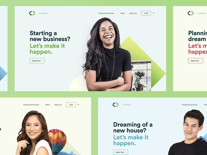 Investment/Banking Website Banners minimal branding inspiration design