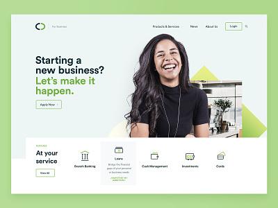 Investment Website bank investment inspiration ux ui website design