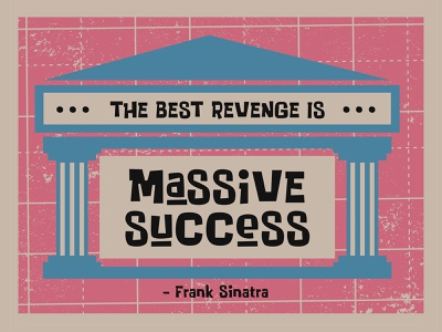 Massive Success illustration quotes book design story letter typeface font logo typography