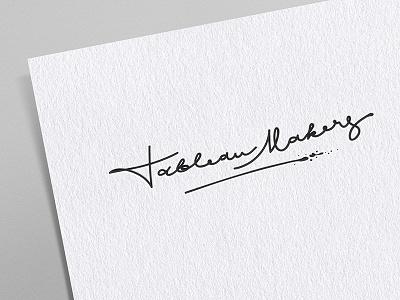 Logotype 1 painting makers tableaux logotype typography logo sign handwritten