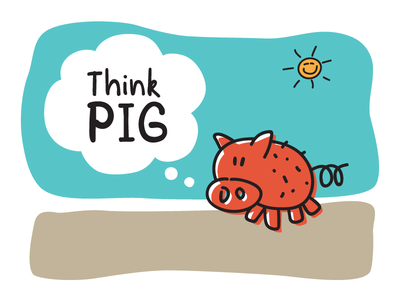 Think Pig story book child kids handwritten font adventura typography