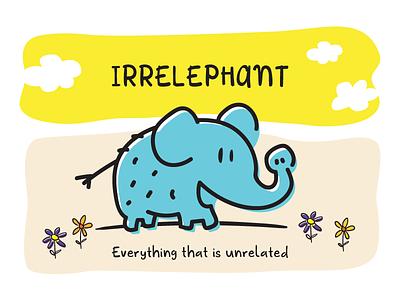 Irrelephant letter adventura kids child typography cute elephant