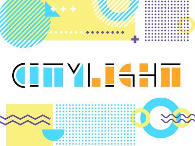 Citylight memphis design basic shapes typeface design font logo typography