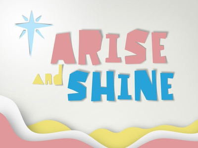 Arise and Shine letter typography paper slice papercut font shine arise