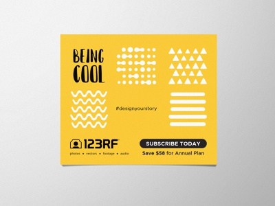 Being Cool rebranding expressive cool story design