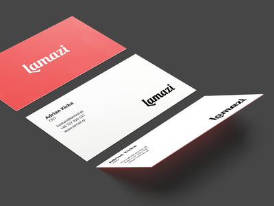 Business card makeup cosmetics candy red clean business card clean lamazi business card