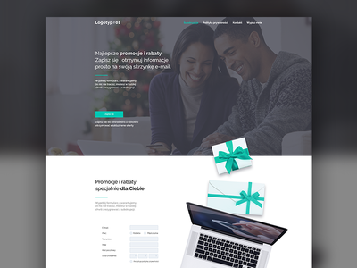 Minisite #01 one page site e-mail marketing present website onepage minisite mail e-mail clean