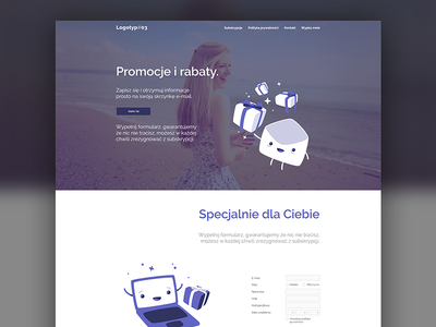Minisite #03 one page site e-mail marketing website onepage minisite mail e-mail clean
