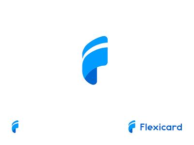 Flexicard f logo minimal card logo logo flexible flexi card flexicard